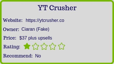 the yt crusher review rating