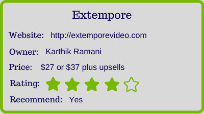 extempore review - rating