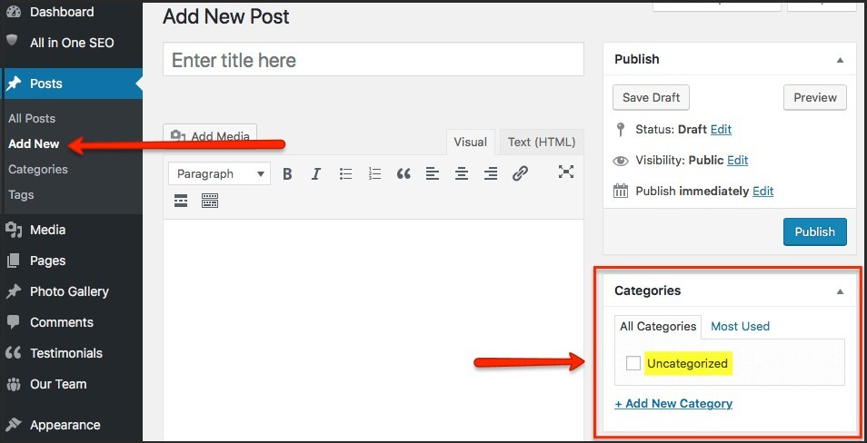 wordpress categories list