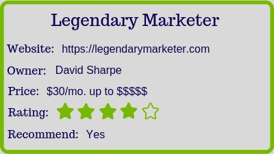 Cheap Internet Marketing Program Legendary Marketer  Sales Numbers