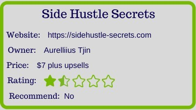 the side hustle secrets review - rating