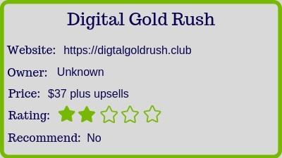 digital gold rush review - rating