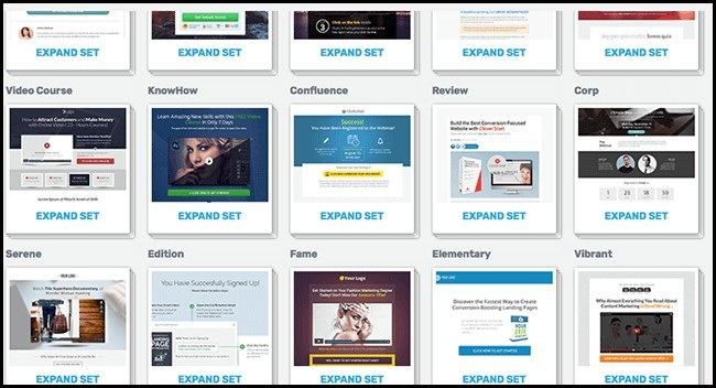 what is a landing page template at Thrivethemes