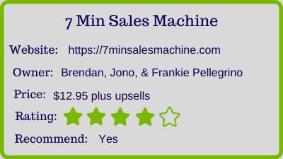 7 minute sales machine - rating