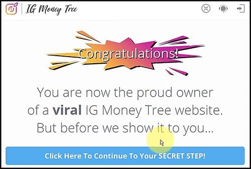 secret step is for affiliate commissions