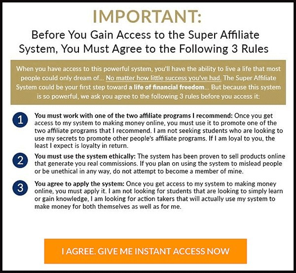 You can only promote johns affiliate programs