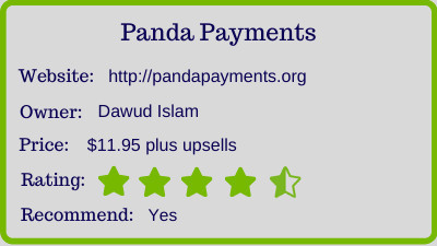 The Panda Payments Review - rating