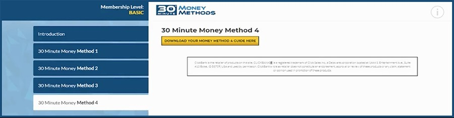 what is 30 minute money methods about