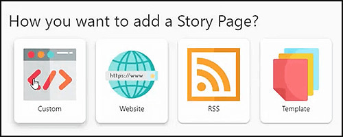Can get your story from 4 sources