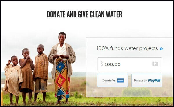 landing page examples for donations