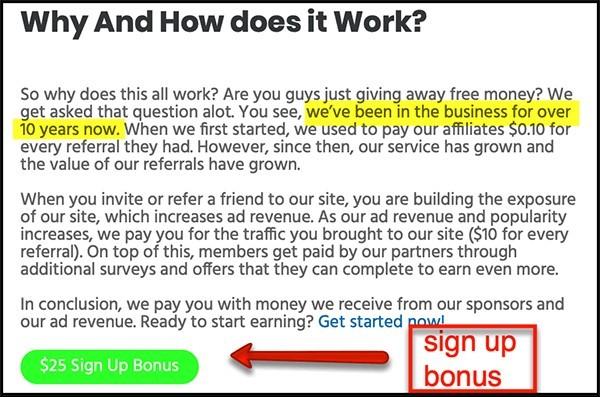 sign up bonus to be an influencer