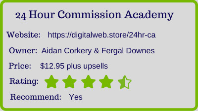 24hr commission academy review - rating