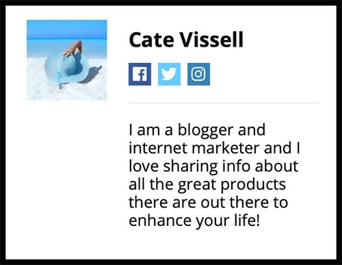 is cate vissell a fake account