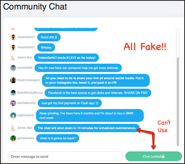 community chat doesn't work