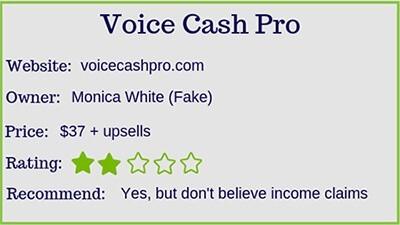 voice cash pro rating