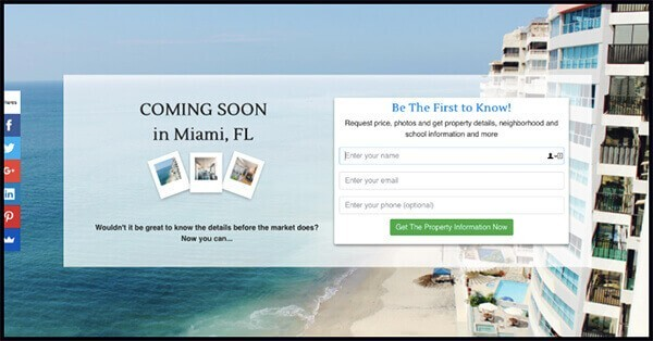 "affiliate marketing landing page examples of ""coming soon"""