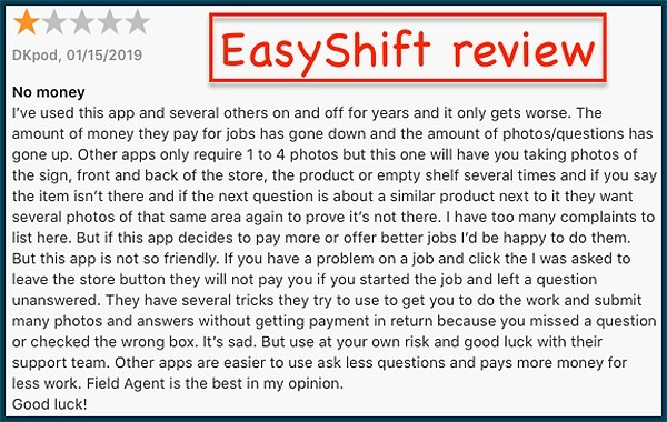 easy shift user review