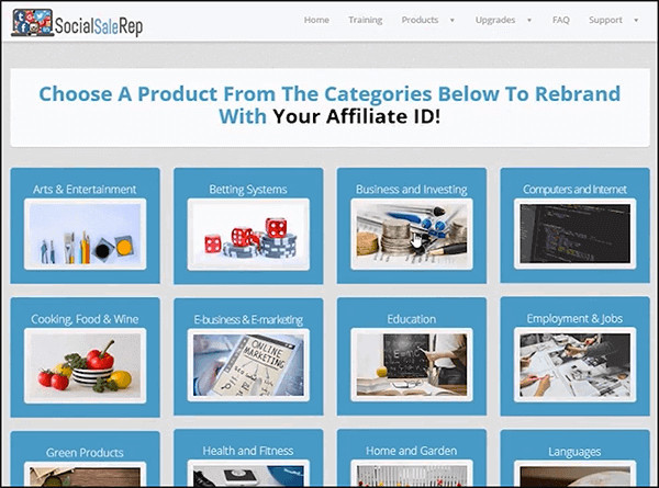 social sale rep categories and niches