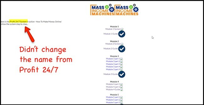 mass income machines didn't change their web page from Profit 24/7