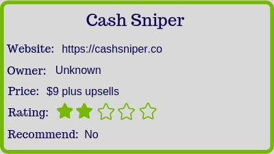The Cash sniper review rating