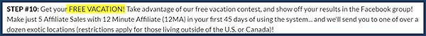 earn a free vacation with only 5 affiliate sales