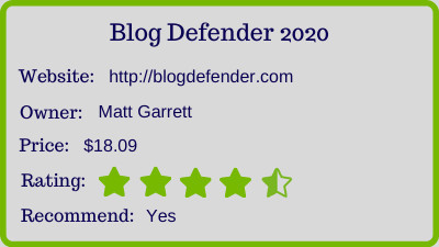 Blog Defender review - rating