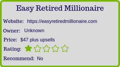 easy retired millionaire review - rating