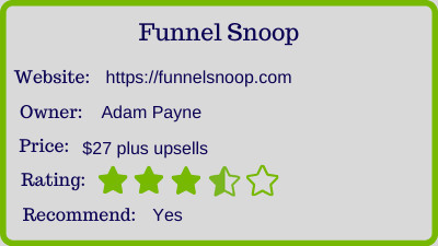 funnel snoop review - rating