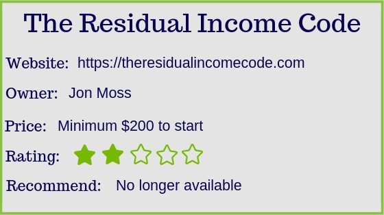 The Residual income code review