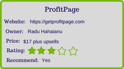 profit page review rating