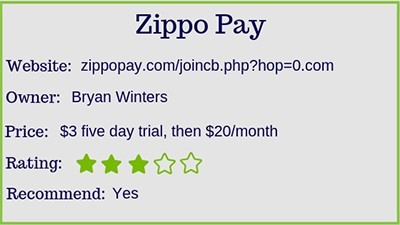 Zippo Pay rating