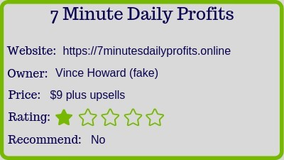 the 7 minutes daily profits rating