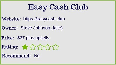 what is the easy cash club rating