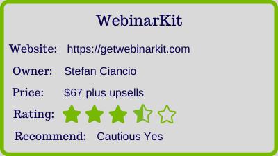 webinar review rating
