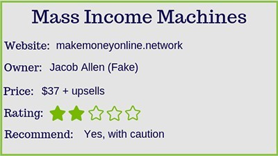 mass income machines ranking