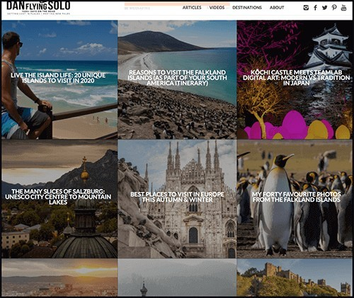 sample of a wordpress theme for a blogging platform