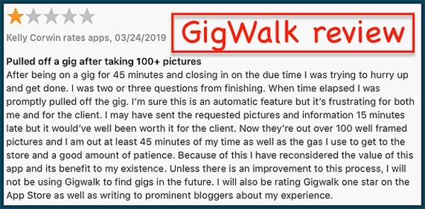 gig walk user review
