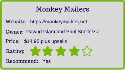 monkey mailers review - rating