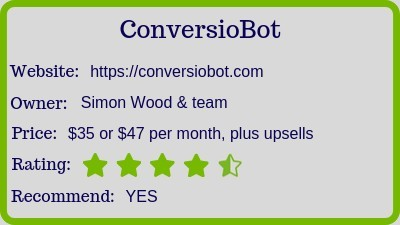 the conversiobot review (rating)