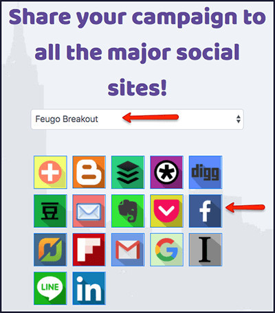 share buttons to different platforms