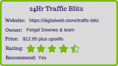 24 Hr Traffic Blitz Review - rating