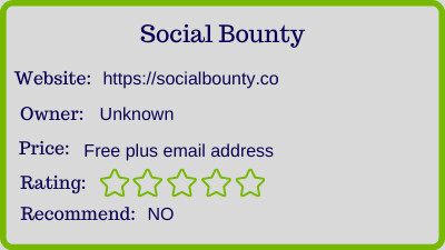 social bounty review - rating