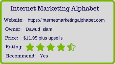 internet marketing alphabet review - rating