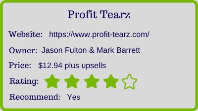 the profit tearz review - rating