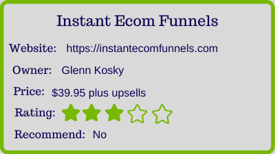 Instant Ecom Funnels - rating