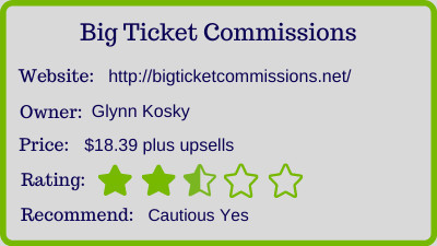 the Big Ticket Commissions review - rating