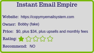 The Instant Email Empire rating