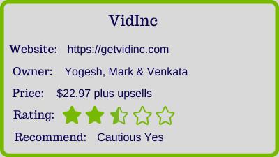 The vidinc review - rating
