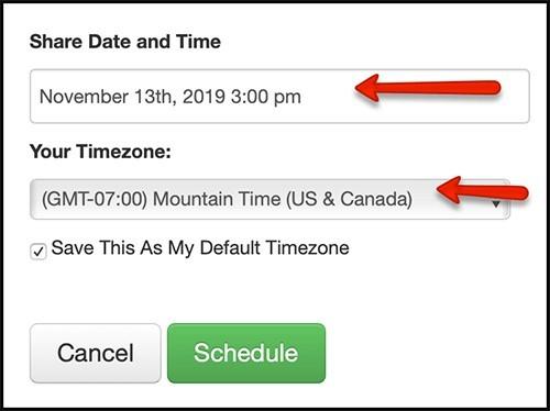 schedule your posts in the calendar