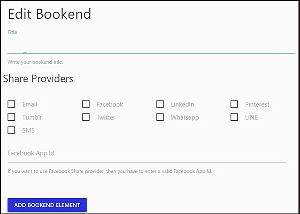 bookends for social sharing